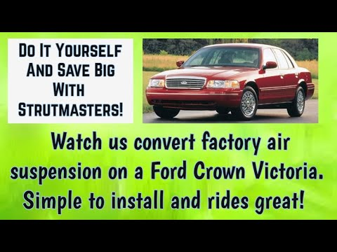 Ford Crown Victoria With A Rear Shock And Coil Spring Replacement By Strutmasters