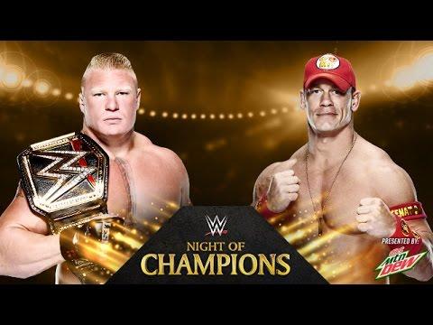 John Cena vs. Brock Lesnar - Night of Champions - WWE 2K14 Simulation 17 September 2014 08 PM