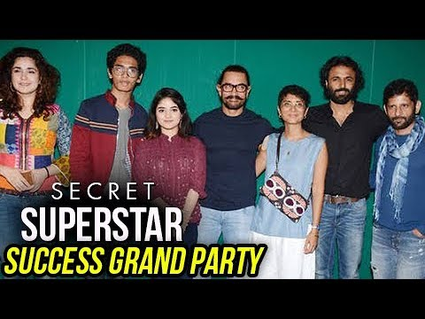 Aamir Khan, Zaira Wasim, Kiran Rao At Secret Super