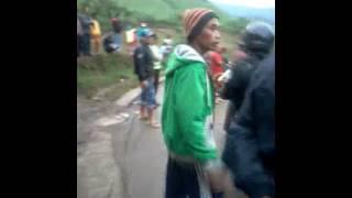 Beko terguling dari Fuso jln Arah Banjarwangi,Garut