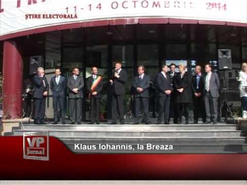Klaus Iohannis, la Breaza