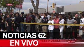 Gigante procesión para darle el ultimo adiós al rapero Nipsey Hussle. – Noticias 62. - Thumbnail