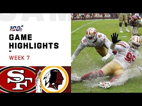 49ers vs. Redskins Week 7 Highlights  NFL 2019