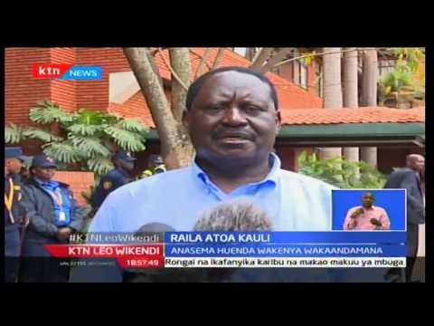 KTN Leo Wikendii: Kiongozi wa ODM Raila asisitisha uwepo wa maandamano kuhusu IEBC, Septemba 25 2016