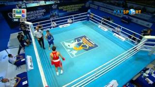 Бокстан ӘЧ.   Біржан Жақыпов (49 кг)  Хасанбой Дусматовқа қарсы