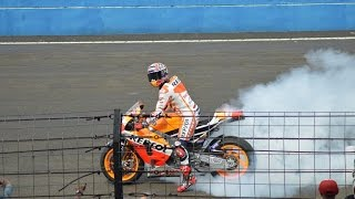 Video Marc Marquez Burn out & Wheelie at Sentul MP3, 3GP, MP4, WEBM, AVI, FLV Juni 2018