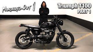 8. 2018 Triumph Bonneville T100 Black - COMPLETE BLACK - OUT Customization Part 1