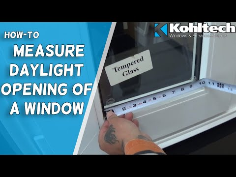 How to Measure the Daylight Opening