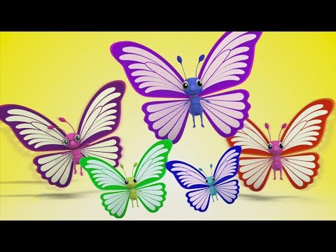 Schmetterlings-Finger-Familie | Kinderreim für Kinder | Deutsch Kinderlied | Butterfly Finger Family