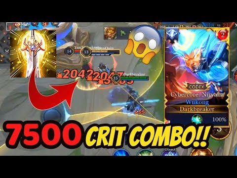 WUKONG NEW BUILD 7500 CRIT COMBO!! 😲 CYBERCORE SKIN | AoV | 傳說對決 | RoV | Liên Quân Mobile | 펜타스톰