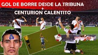 GOL DE BORRE + FIESTA + PELEA DE CENTURION / River Plate vs Racing - Copa Libertadores 2018