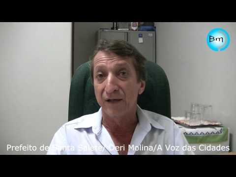 Santa Salete - Prefeito Deri Molina fala sobre o acidente do último sábado envolvendo um micro ônibus de Santa Salete.