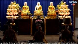 [LIVESTREAM] TT. Thích Nhật Từ hướng dẫn thiền Vipassana sau thời tụng kinh sáng Ngày 16-06-2018