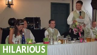 Brother Of The Bride Delivers Hilarious Wedding Toast