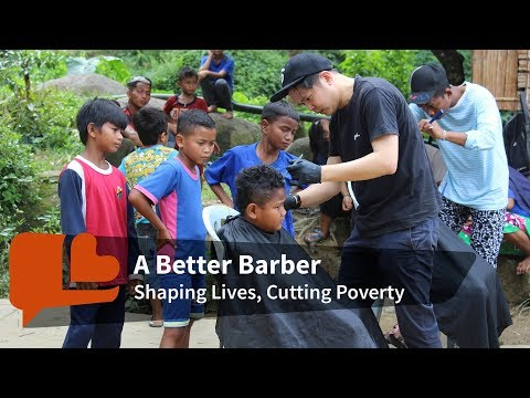 This hairdresser finds purpose through his scissors