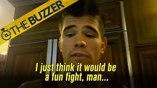 Mickey Gall tells us why he thinks Sage Northcutt is 'corny' by @The Buzzer
