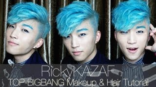 TOP [Bigbang] - Makeup&Hair Tutorial - RickyKAZAF
