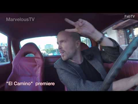 AARON PAUL cops on his tail at the arrival of