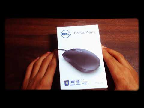 DELL MS116 optical mouse unboxing and quick review