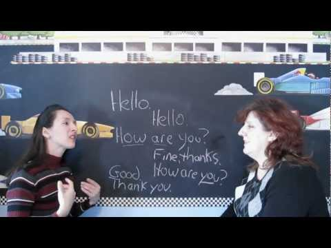 Lessons - New series of lessons for BEGINNERS. Learn English with Jennifer and her friend, Natasha. Lesson 1: Greetings About this series: These are REAL lessons. No a...
