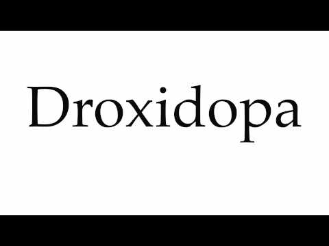 How to Pronounce Droxidopa