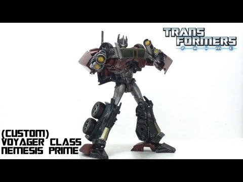 optibotimus - Video Review of the Transformers Prime: Nemesis Prime (custom) WANT TO GET ONE?! Contact Josh at siocecustoms@gmail.com or send him a message on TFW2005 here...