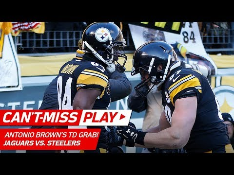 Video: Big Ben's TD Strike to Antonio Brown Cuts Jags Lead! | Can't-Miss Play | NFL Divisional Round HLs