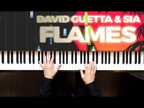 видео игры на фортепиано - Flames