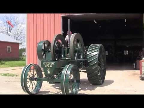 Hand Starting 1913 Fairbanks Morse Tractor 25 HP