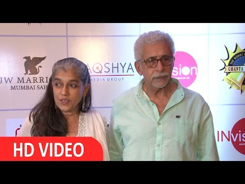 Ratna Pathak & Naseeruddin Shah At Ghanta Awards 2016