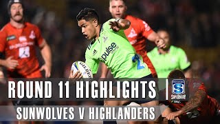 Sunwolves v Highlanders Rd.11 2019 Super rugby video highlights | Super Rugby Video Highlights