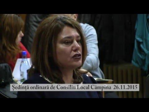 Sedinta Consiliul Local Campina – 26 noiembrie 2015 – partea a IV-a
