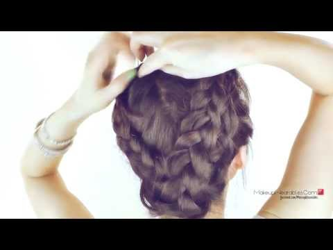 longhair - Hi, my loves! :D ♥ Don't forget to L I K E & FAVORITE to try this halo braid hairstyle later! ♥ Cute, everyday, no heat, mermaid milkmaid braid plait updo ha...
