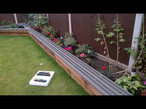 Hornby apt and pendolino on the garden layout