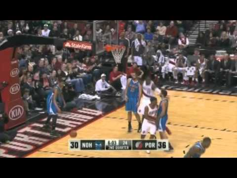 Batum to Hickson Alley Oop Dunk against Hornets