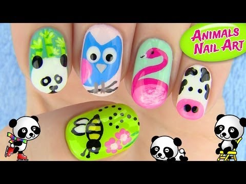 Nail - Nail art with animals! In this nail tutorial I show 5 nail art designs inspired by animals! 5 cute animal nail art designs perfect for all animal lovers. The...