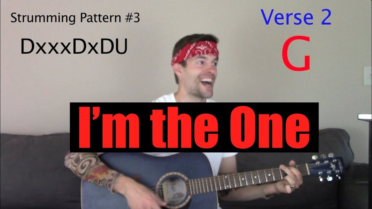 """How to Play """"I'm the One"""" on Guitar"""