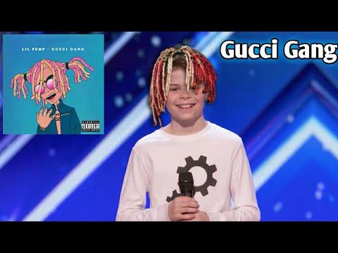Kid dances to Gucci Gang on America's got talent!