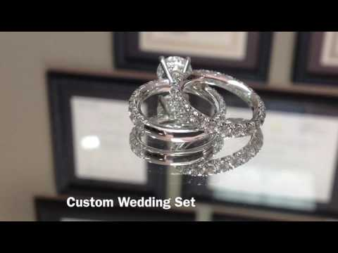 Platinum & Diamond Custom Wedding Set