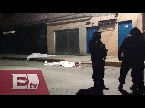Asesinan a tiros a tres personas en plena calle en Naucalpan, Edomex