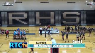 Rochester High School Volleyball vs Maconaquah