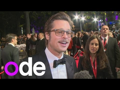 Actor - We caught up with the legend that is Brad Pitt at the premiere of his new war film, Fury. The cast also revealed that Brad threw a great wrap party. Report by Andrea Lilly.