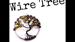 How To Make A Wire Tree Of Life Pendant With The Bead Place - YouTube