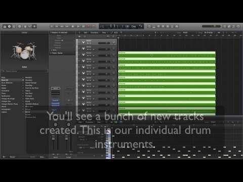How to separate Drummer track to Individual Drum instruments in logic Pro X