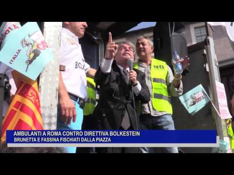 AMBULANTI A ROMA CONTRO BOLKESTEIN, BRUNETTA E FASSINA FISCHIATI