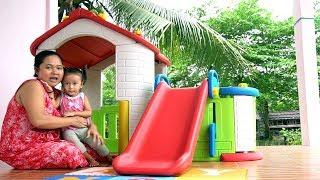Download Video Unboxing Mainan Anak Playhouse with Slide - Rumah rumahan dengan perosotan - Playground mini MP3 3GP MP4