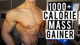 Homemade 1000+ Calorie Mass Gainer Shake For Gaining Muscle