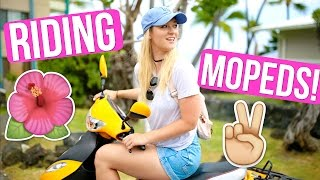 RIDING MOPEDS IN HAWAII + FLYING TO LA!! by Alisha Marie Vlogs