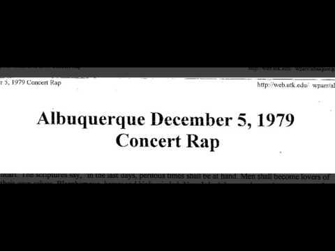 Bob Dylan speaks to crowd Albuquerque 1979-12-05