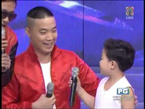 Showtime - MANILA, Philippines The boy who danced alongside Psy in the phenomenal Gangnam Style video made a guest appearance on the ABSCBNs noontime program Its Showti...